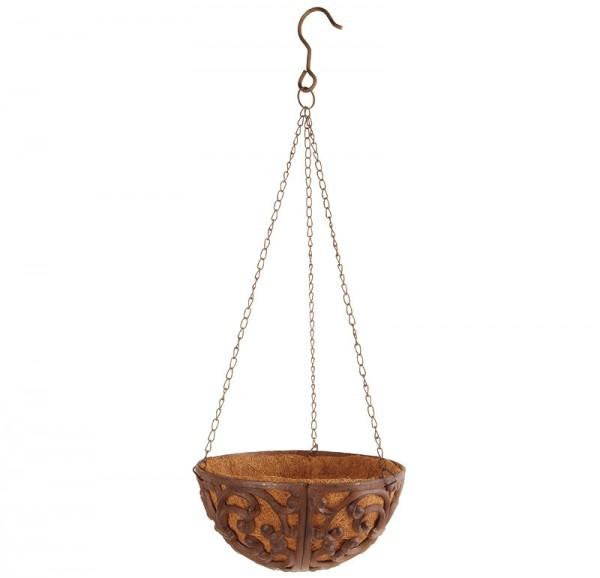 rustikale blumenschale pflanzschale zum aufh ngen gusseisen mit kette 25cm kaufen. Black Bedroom Furniture Sets. Home Design Ideas