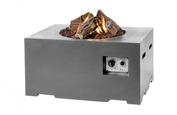 Happy Cocooning Feuertisch rechteckig grau 800 x 600 x 400 mm