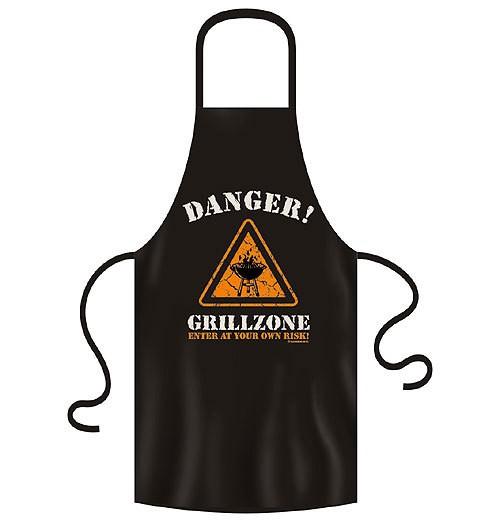 """Grillschürze """"Danger Grillzone"""" 100% Baumwolle schwarz"""