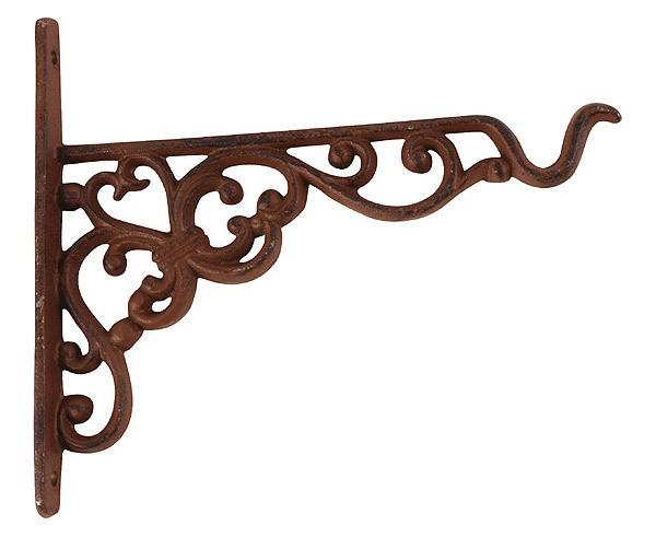 wandhaken f r blumenampel blumentopf gusseisen antik braun 20cm kaufen. Black Bedroom Furniture Sets. Home Design Ideas