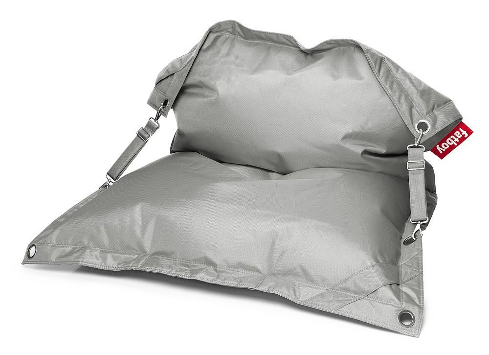 Fatboy Buggle-Up Light Grey Sitzsack Lounge-Sitz Grau 190 x 140 cm