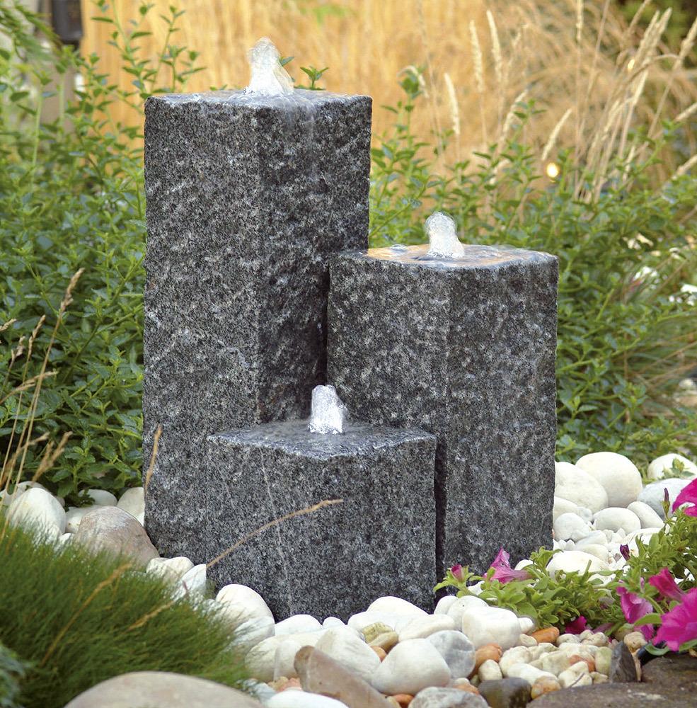 Ubbink AcquaArte Siena Gartenbrunnen Set LED Springbrunnen ...