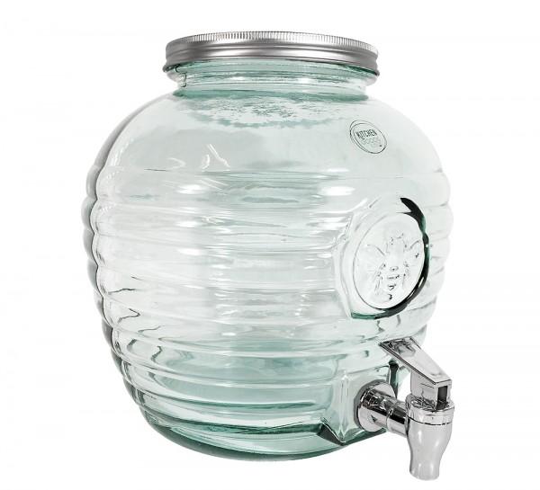 Getränkespender Groß Glas mit Zapfhahn 8 Liter Wasserspender Saftspender XL