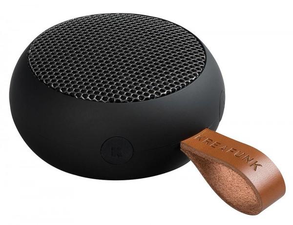 KREAFUNK aGo Black Edition Bluetooth Lautsprecher klein tragbar Schwarz USB