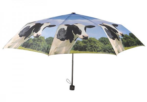 Image of Regenschirm Kuh Taschenschirm faltbar Bauernhof-Motiv