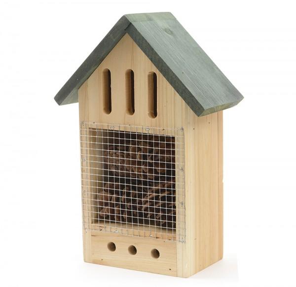 *NEU*: Insektenhotel aus  Holz, gefüllt, braun/grün
