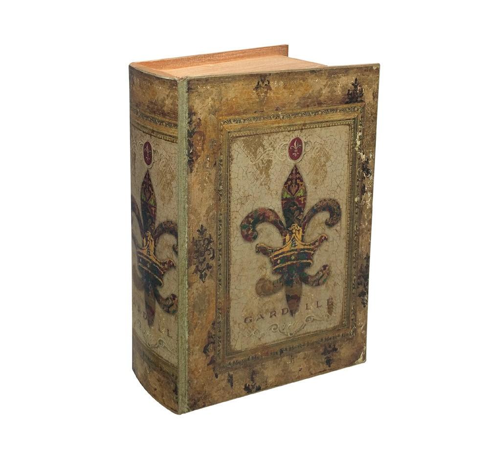 Hohles Buch mit Geheimfach Lilie Buchversteck Antik-Stil 27cm ...