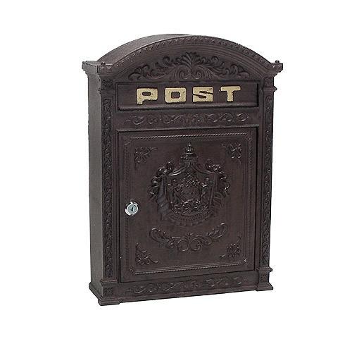 briefkasten wandbriefkasten post nostalgie landhaus antik stil braun kaufen. Black Bedroom Furniture Sets. Home Design Ideas