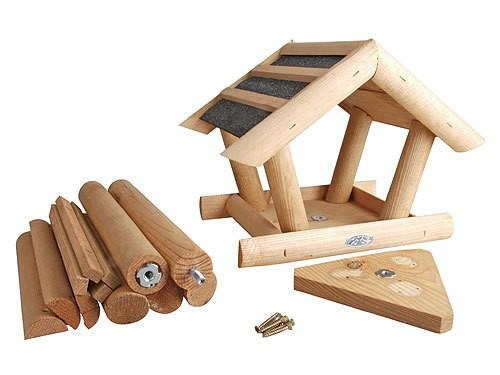 vogelhaus mit stander holz vogelhauser vogelfutterhaus. Black Bedroom Furniture Sets. Home Design Ideas