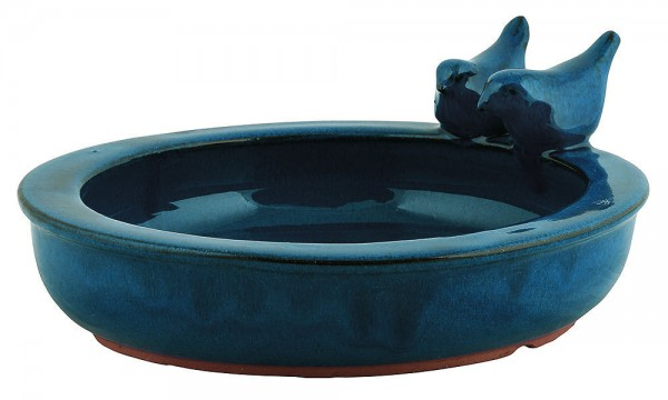 *NEU*: Vogeltränke und Futterschale aus Keramik, grün (Kopie)