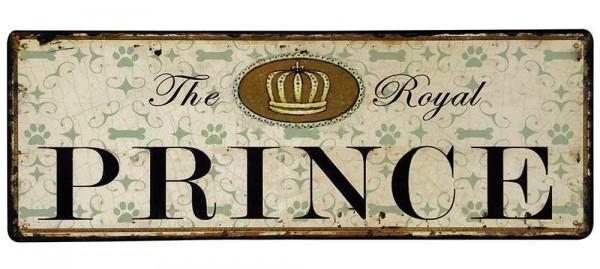 "Nostalgie Blechschild ""The Royal Prince"" Dekoschild Vintage 36x13cm"