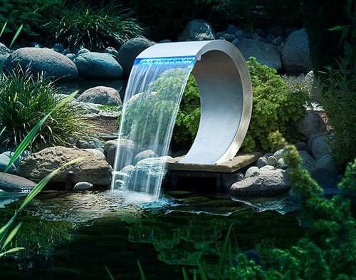 Ubbink MAMBA LED Wasserfall Element Edelstahl 54cm