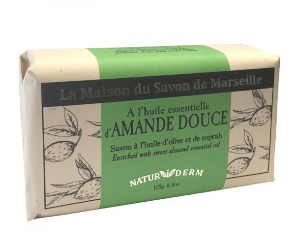 Natürliche Seife Naturiderm Amande Douce (Mandel) - Ohne EDTA - 125g