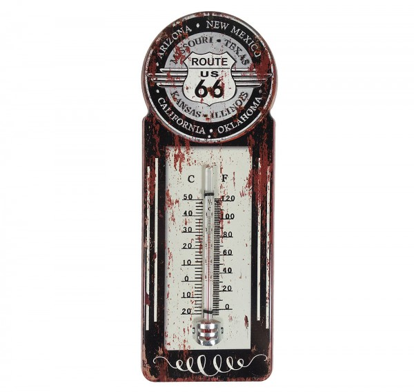 "*NEU*: Wandthermometer ""Route 66"" aus Metall, bunt"