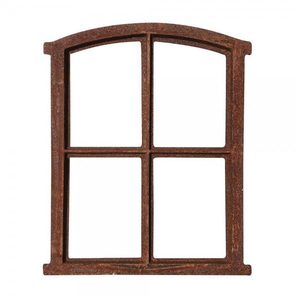 Stallfenster Gusseisen Antik-Stil Rostig Nostalgie Fensterrahmen Vintage 49cm