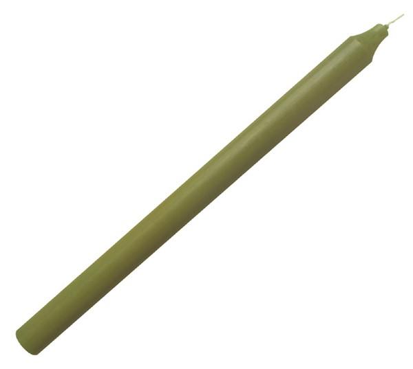 Stabkerze 30cm x 2cm Tropffrei Premium Moosgrün