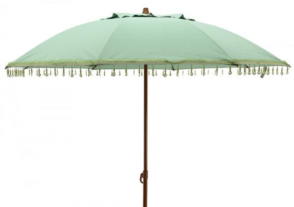 """*NEU*: Sonnenschirm """"Bali"""" aus Polyester, hell-petrolgrün"""