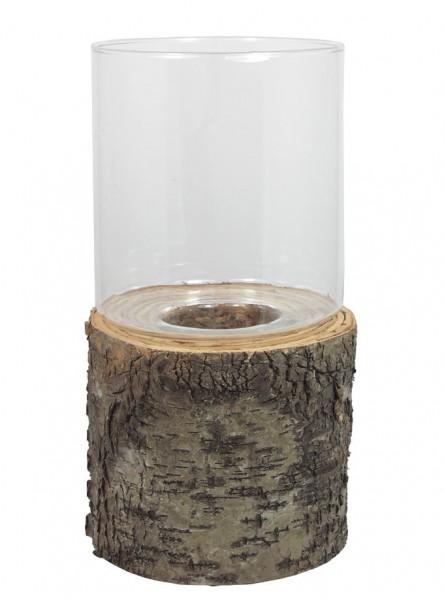 wundersch nes windlicht glas baumstamm birkenrinde zum dekorieren geeignet teelichthalter. Black Bedroom Furniture Sets. Home Design Ideas