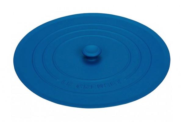 Le Creuset Silikondeckel Rund Marseille Blau 28cm