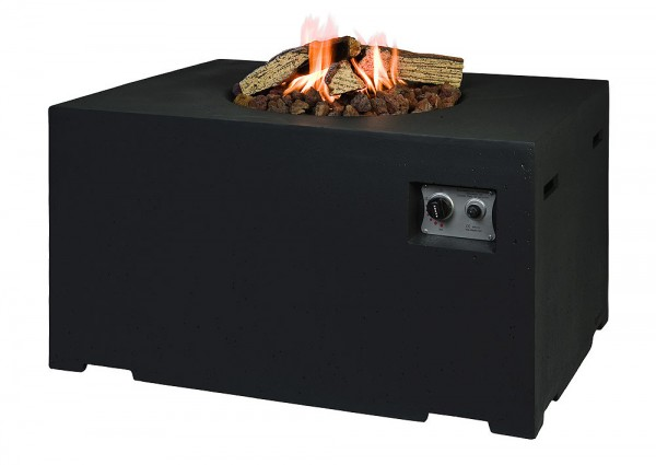 Happy Cocooning Lounge & Dining Feuertisch rechteckig schwarz 1070 x 800 x 67...
