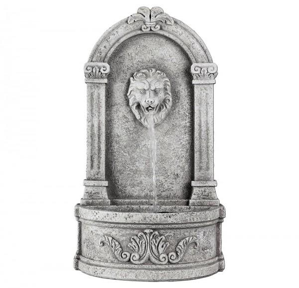 Standbrunnen Löwe Nostalgie Steinguss Springbrunnen inkl. Pumpe Antik-Stil 70cm