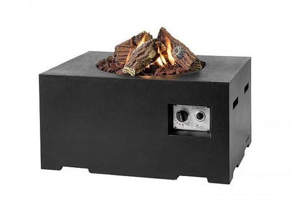Happy Cocooning Feuertisch rechteckig schwarz 800 x 600 x 400 mm