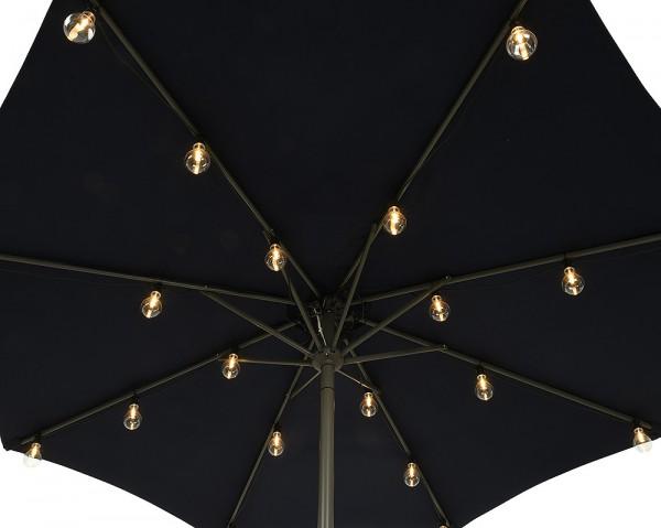 Sonnenschirm Lichterkette LED Sonnenschirm Beleuchtung 20 Glühbirnen Warmweiß