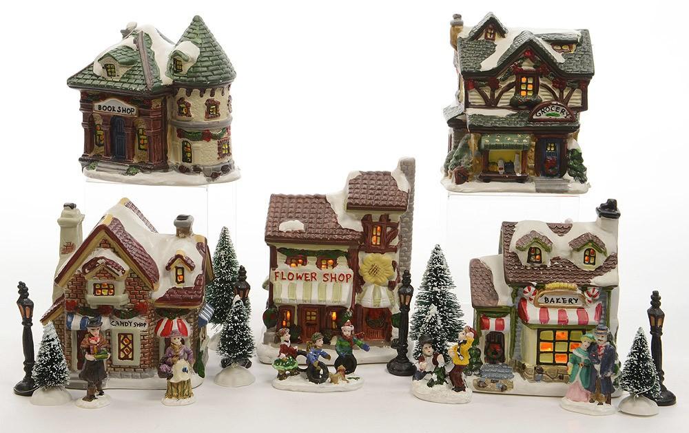 Weihnachtsstadt WEIHNACHTSMARKT Mit LED-Beleuchtung 20