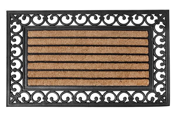 nostalgische fussmatte streifen fussabtreter gummi kokos 45x75cm kaufen. Black Bedroom Furniture Sets. Home Design Ideas