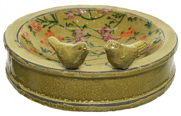 *NEU*: Vogeltränke und Futterschale aus Keramik, petrol (Kopie)