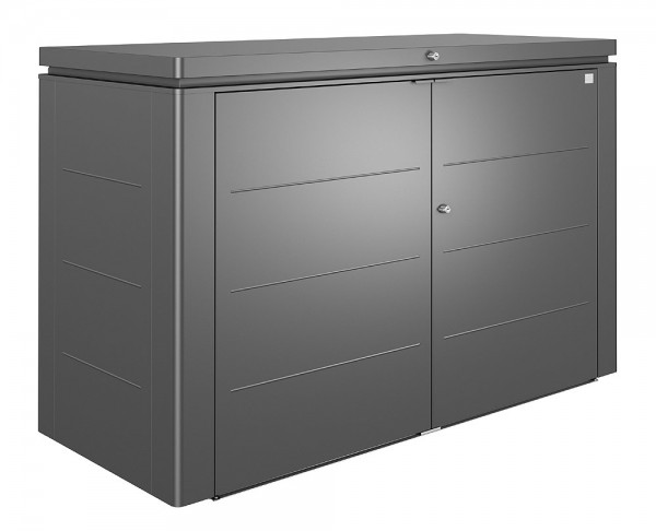 biohort highboard 200 aufbewahrungsbox 200x84x127cm dunkelgrau metallic kaufen. Black Bedroom Furniture Sets. Home Design Ideas