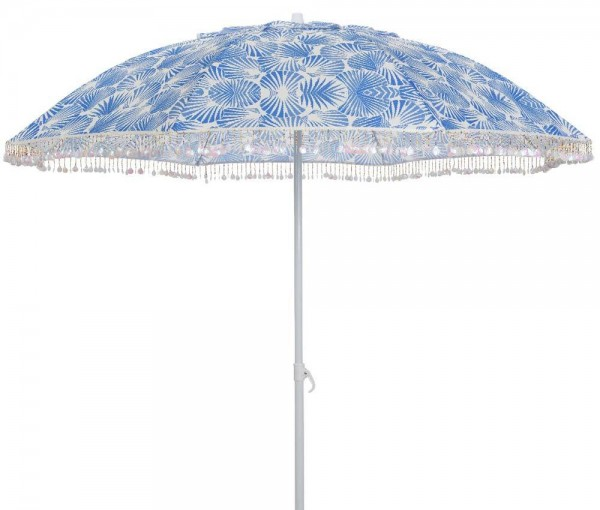 """*NEU*: Sonnenschirm """"Muschel"""" aus Polyester, blau/weiß"""