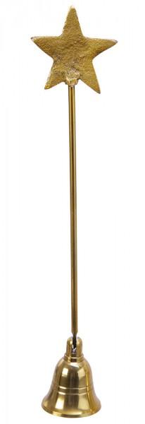 Kerzenlöscher Stern gold Weihnachten Flammenlöscher Dochtlöscher 27cm