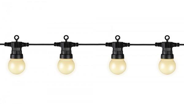 LED Partylichterkette Erweiterungs-Set zu 490152 warm-weiss 20 LEDs 9,5m