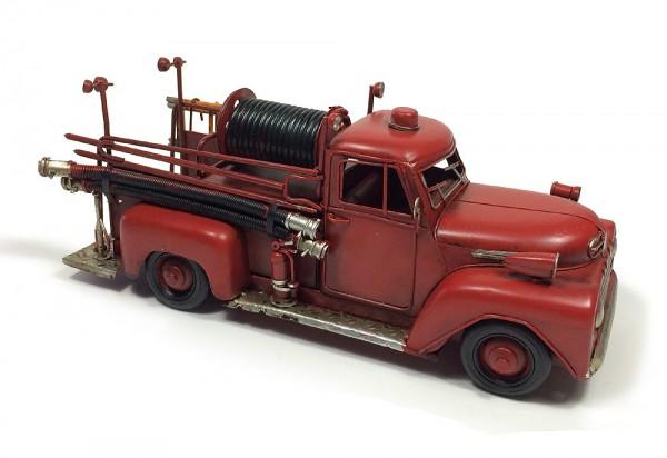 Nostalgisches Feuerwehrauto Modell Feuerwehrwagen Vintage Metall Rot 31cm | Kinderzimmer > Spielzeuge > Sonstige Spielzeuge | Metall - Lack | zeitzone