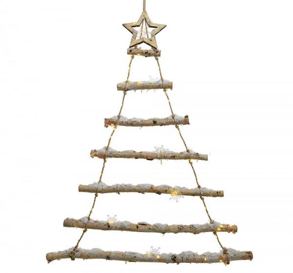 led weihnachtsbaum birke mit schnee baum weihnachtsdeko. Black Bedroom Furniture Sets. Home Design Ideas