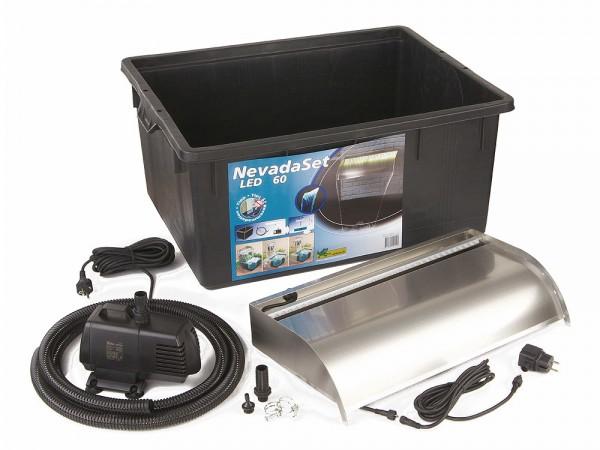 Ubbink Nevada 60 LED SET Wasserfall-Set Edelstahl Beleuchtet | Lampen > Aussenlampen > Wasserleuchten | Edelstahl | Ubbink