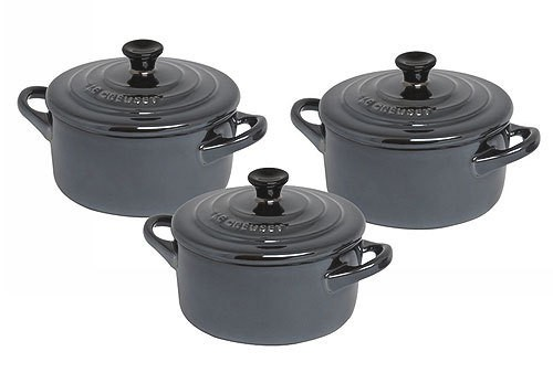 le creuset mini cocotte 3er set preisvergleich topfset. Black Bedroom Furniture Sets. Home Design Ideas