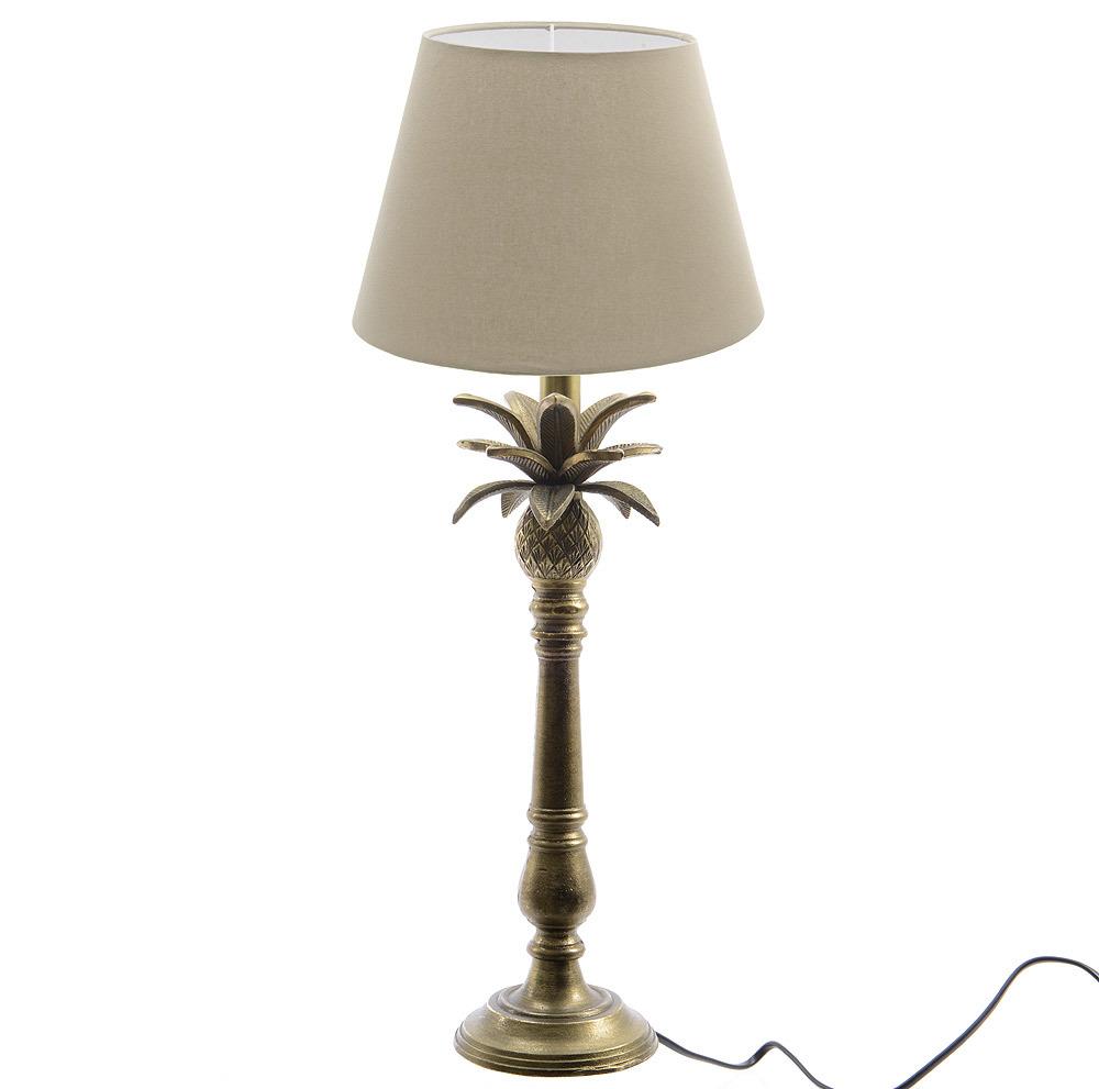 Stehlampe ananas bronze optik tischlampe mit lampenschirm for Wohnen deko shop