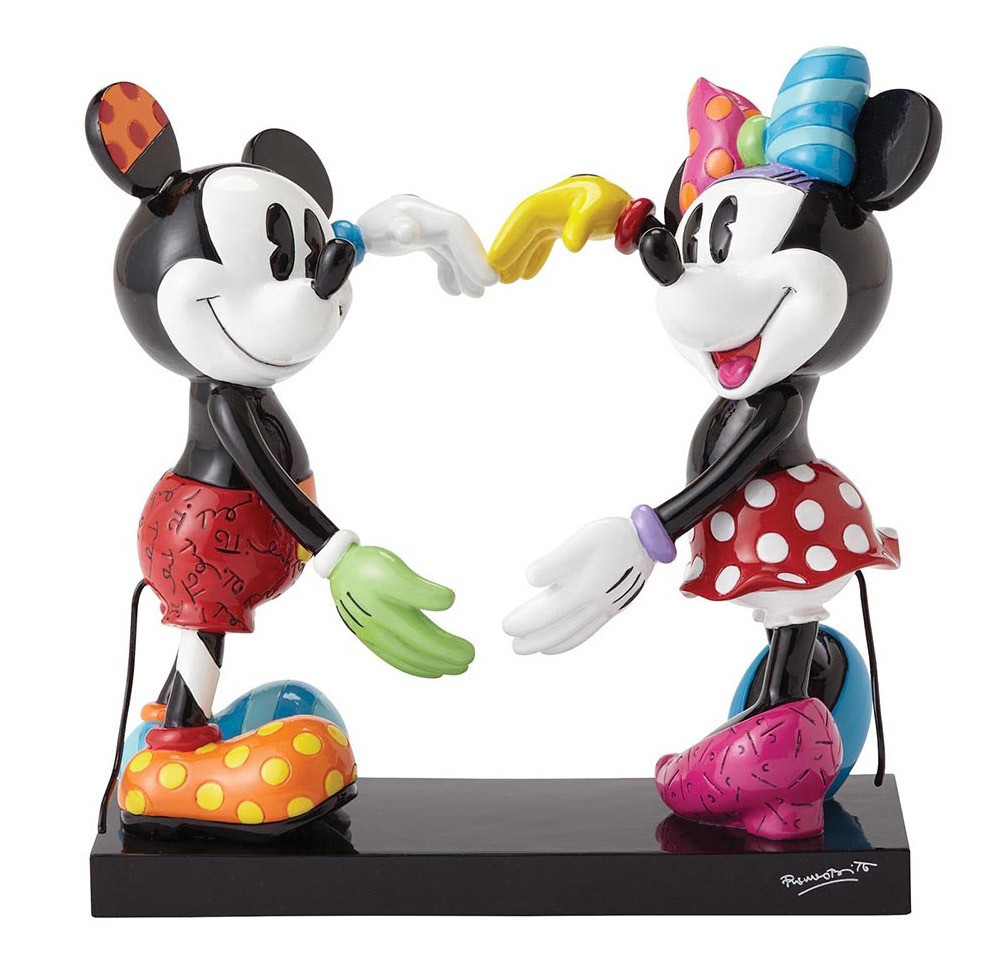 DISNEY Figur Mickey & Minnie Mouse forming Heart BRITTO Collection 17,5cm