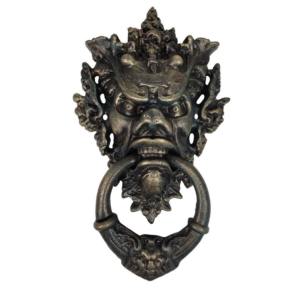 t rklopfer teufel gothic gusseisen teufelsfratze antik stil devil halloween t rklopfer. Black Bedroom Furniture Sets. Home Design Ideas