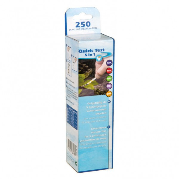 Velda quick test streifen 5 wasserwerte teich aquarium for Aquarium teich