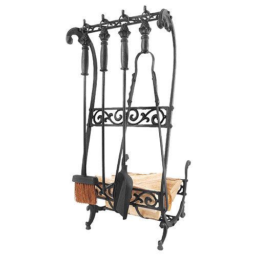 Rustikales kaminbesteck set gusseisen schwarz 5 teilig for Wohnen deko shop