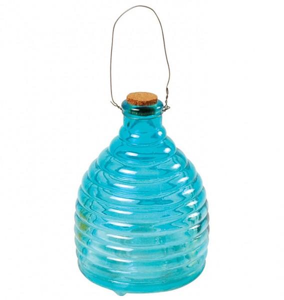 gro e wespenfalle insektenfalle glas geriffelt blau 20cm kaufen. Black Bedroom Furniture Sets. Home Design Ideas