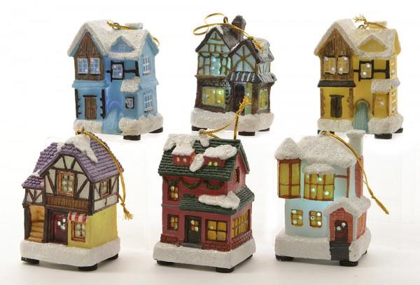 Christbaumschmuck weihnachtsh uschen mit led farbwechsel 6 for Wohnen deko shop