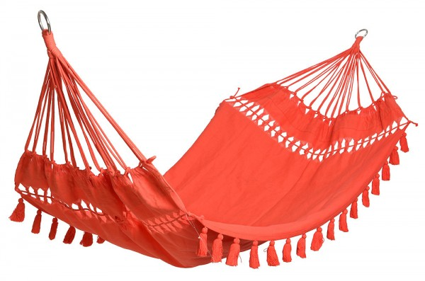 """*NEU*: Gartenhängematte """"Tropical Beach"""" aus Baumwolle, orange"""