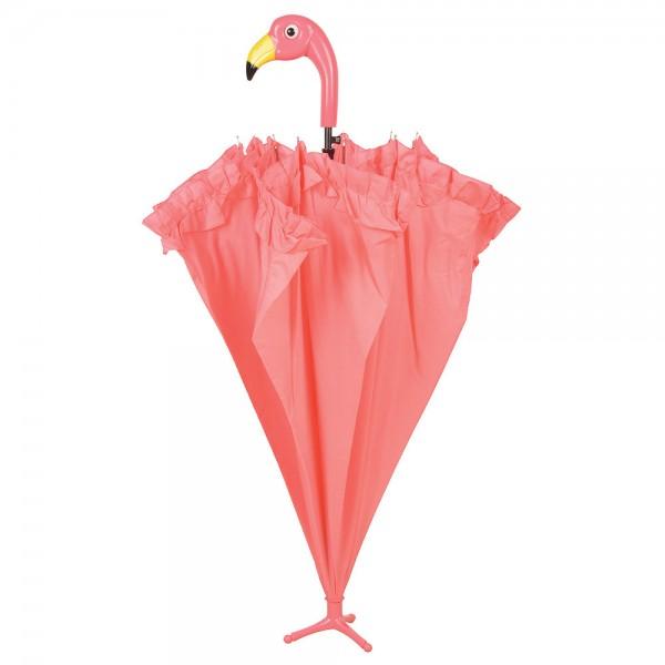 Image of Regenschirm Stockschirm Flamingo Pink mit Rüschen