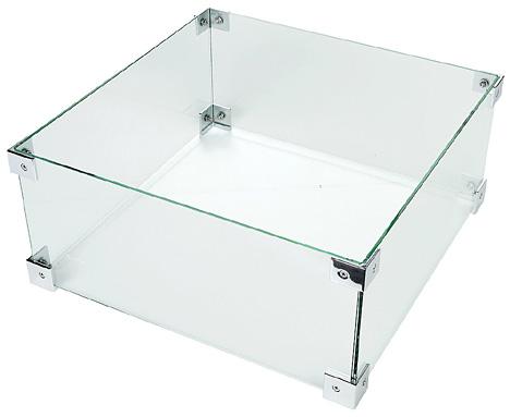 Glasschirm-Einbaukamin