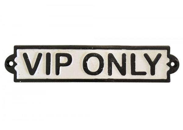 Türschild VIP ONLY Dekoschild Vintage Nostalgie Gusseisen Weiß Schwarz
