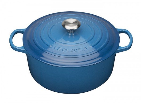 le creuset br ter signature rund guss marseille blau 20cm. Black Bedroom Furniture Sets. Home Design Ideas
